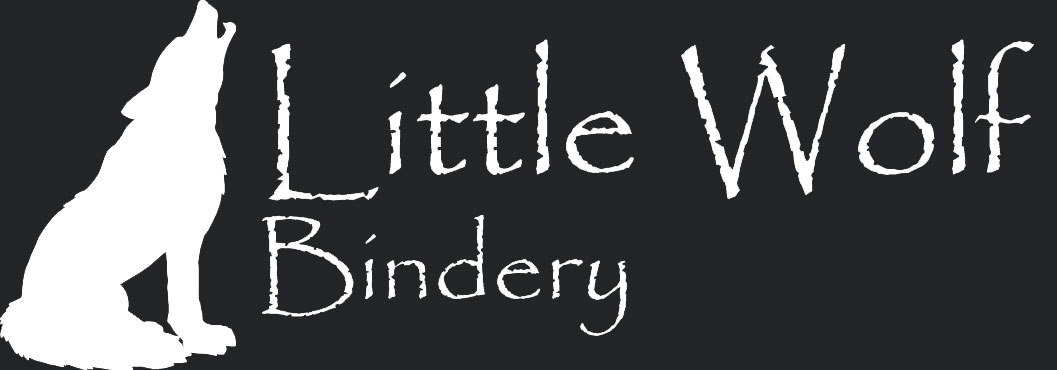 Little Wolf Bindery Temporary Logo